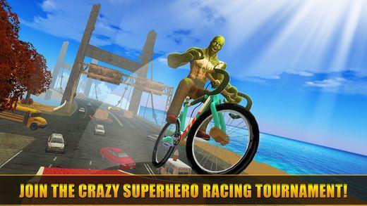 超级英雄快乐自行车比赛手游安卓版  v1.0图4